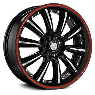 TOOROO® - TR9017 Black with Machined Face and Red Stripe