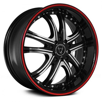 TOOROO® - TR9036 Black with Machined Face and Red Stripe