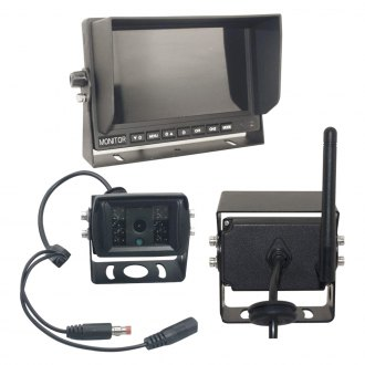 "Top Dawg Electronics® - Wireless Rear View System with 7"" Monitor and Surface Mount Camera"