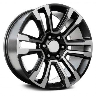 2017 chevy tahoe rims custom wheels at carid page 15 2015 Tahoe LTZ Black topline replicas v1184 2017 gmc denali gunmetal with machined face