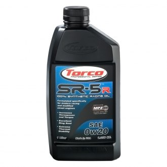 Torco® - SAE 0W-20 SR-5R 100% Synthetic Racing Oil, 1.05 Quart