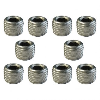 "Torque Solution® - Stainless Steel 1/8"" NPT Plug, Pack of 10"