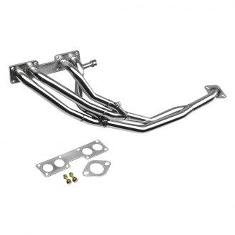 Torxe™ - Racing 4-2-1 Tri-Y 304 SS Polished Long Tube Exhaust Header with Downpipe