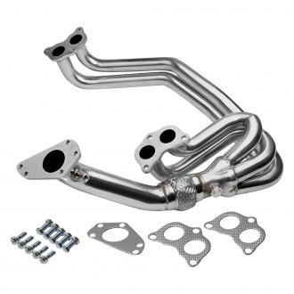 Torxe™ - 304 SS Polished Long Tube Exhaust Header with Up-Pipe