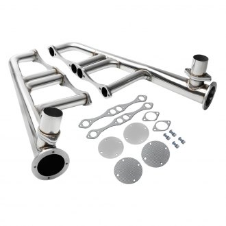 Torxe™ - Lake Stainless Steel Polished Short Tube Exhaust Headers