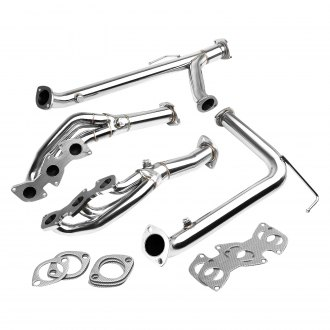Torxe™ - Stainless Steel Polished Long Tube Exhaust Headers with Y-Pipe