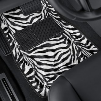Torxe® - Zebra/Tiger Stripe Style Carpeted Floor Mats with Heel Pad