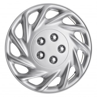 "Torxe® - 14"" 11 Slots Silver Wheel Cover Set"
