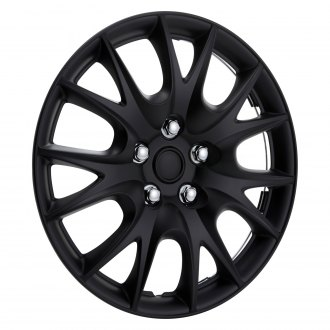 "Torxe® - 15"" 7 Y Spokes Matte Black Wheel Cover Set"