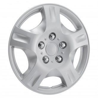 "Torxe® - 15"" 5 Spokes Silver Wheel Cover Set"
