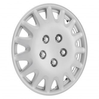 "Torxe® - 14"" 15 Spokes Silver Wheel Cover Set"