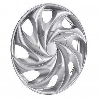 "Torxe® - 14"" 8 Slots Silver Wheel Cover Set With Hidden Lugs"
