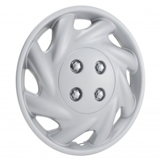 "Torxe® - 14"" 8 Slots Silver Wheel Cover Set"