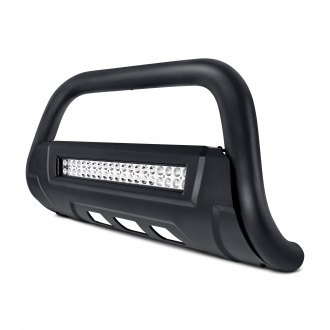 "Torxe™ - 3.5"" X2 Series Black Oval Bull Bar with LED Light Bar and Skid Plate"