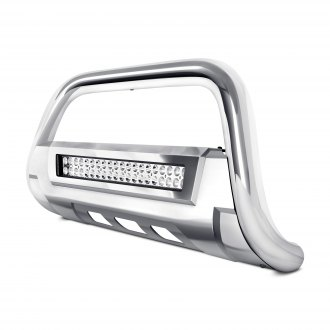 "Torxe™ - 3.5"" X2 Series Oval Bull Bar with LED Light Bar and Skid Plate"