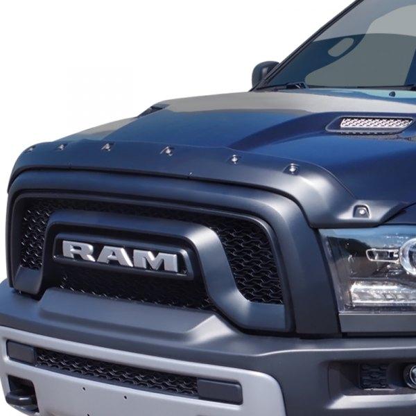 FormFit Textured Black Tough Guard Hood Protector Bug Shield Deflector Fits 2009-2018 Ram 1500