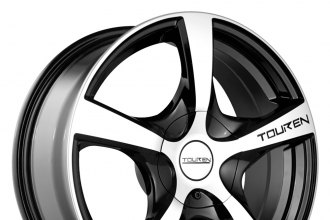 "TOUREN® - TR9 Black with Machined Face and Lip (17"" x 7"", +42 Offset, 5x114.3 Bolt Pattern, 72.62mm Hub)"