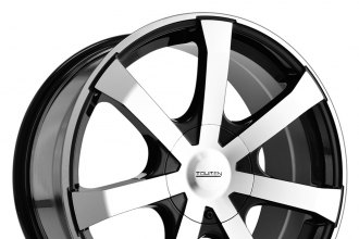 "TOUREN® - TR90 Black with Machined Face (18"" x 8"", +20 Offset, 5x114.3 Bolt Pattern, 74.1mm Hub)"