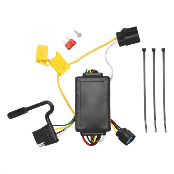 Tow Ready® - 4-Flat Replacement OEM Tow Package Wiring Harness with Circuit Protected ModuLite™ Module