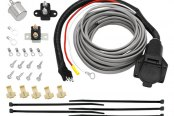 Tow Ready® - 7-Way Flat Pin Connector with Brake Control Wiring and Hardware