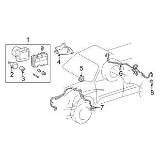 headlight wiring diagram for 2001 toyota tundra 2001 toyota tundra anti lock brake system  abs  parts     carid com  2001 toyota tundra anti lock brake
