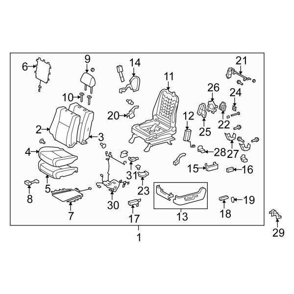 toyota power seat wiring diagram toyota oe 821910c020 front right power seat wiring harness  front right power seat wiring harness