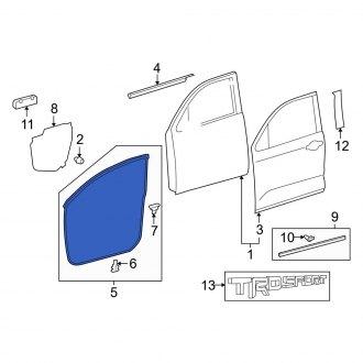 For Toyota Genuine Door Seal Front Left 678620C020