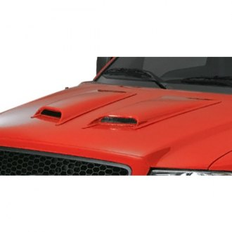TrailFX® - Double Vented Hood Scoops (Unpainted)