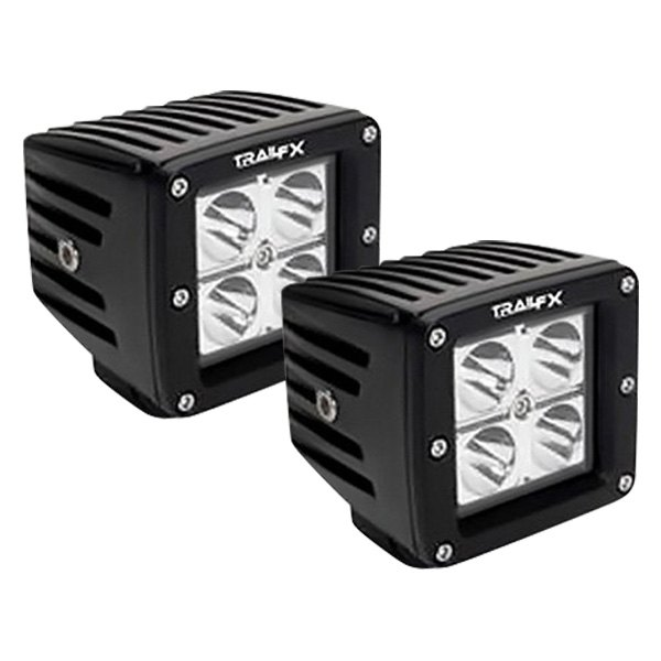 "TrailFX® - Stud Mount 3"" 2x12W Cube Spot Beam LED Lights"