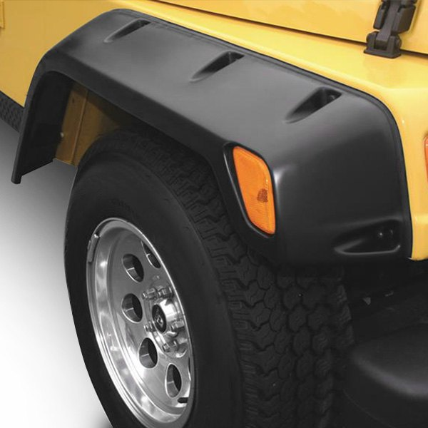 Trailfx Jeep Tj Canadian Market Wrangler Wrangler 1997 Flat Style Textured Black Front And Rear Fender Flares