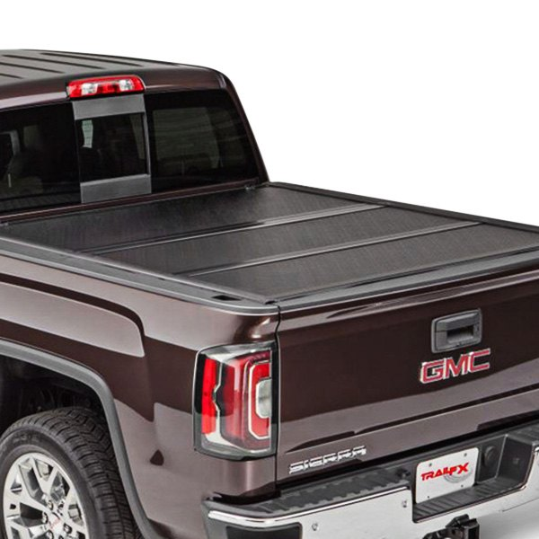 Trailfx Toyota Tundra With Deck Rails 2007 Standard Flush Hard Tri Fold Tonneau Cover