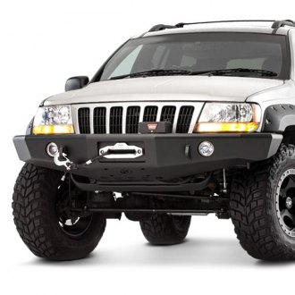 TrailReady®   Full Width Black Front Winch HD Bumper