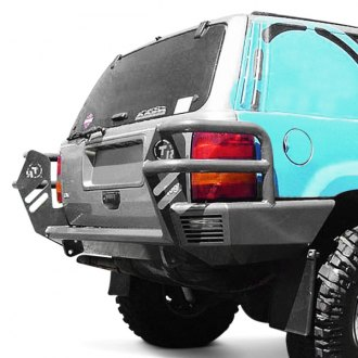 TrailReady® - Full Width Black Rear HD Bumper with Light Guards