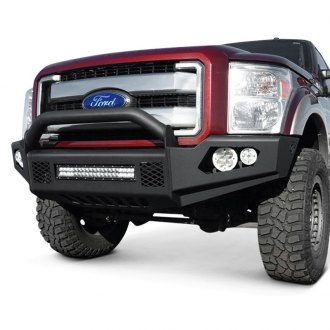 TrailReady® - Light Line Full Width Black Front HD Bumper with Pre-Runner Guard