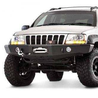Lovely TrailReady®   Full Width Black Front Winch HD Bumper