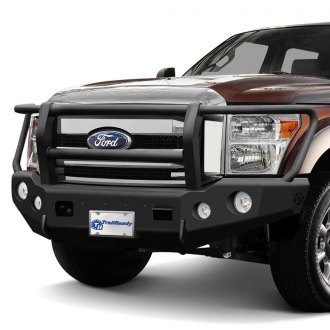 TrailReady® - Full Width Black Front HD Bumper with Full Grille Guard
