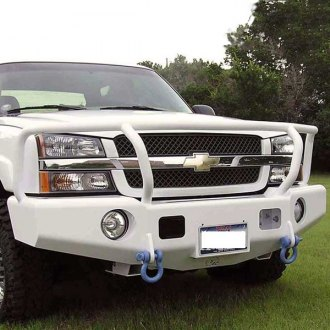 TrailReady® - Full Width Front HD Black Powder Coated Winch Bumper with Grille Guard
