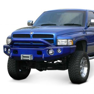 TrailReady® - Full Width Black Front Winch HD Bumper with Pre-Runner Guard