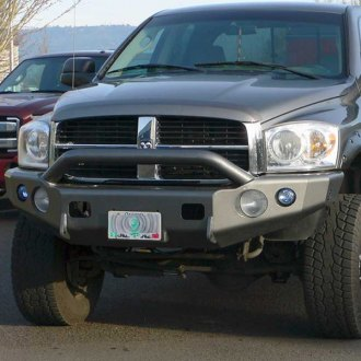 TrailReady® - Full Width Front HD Winch Black Powder Coated Winch Bumper with Pre-Runner Guard
