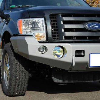TrailReady® - Full Width Front HD Winch Black Powder Coated Winch Bumper