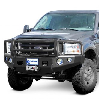 TrailReady® - Full Width Black Front Winch HD Bumper with Grille Guard