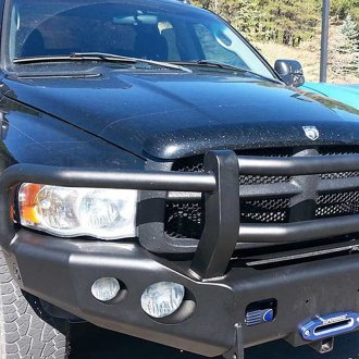 TrailReady® - Full Width Front HD Black Powder Coated Bumper with Grille Guard