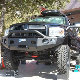 TrailReady® - Full Width Front HD Black Powder Coated Bumper with Pre-Runner Guard