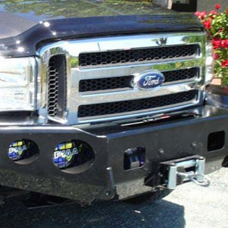 TrailReady® - Full Width Front HD Winch Black Powder Coated Bumper