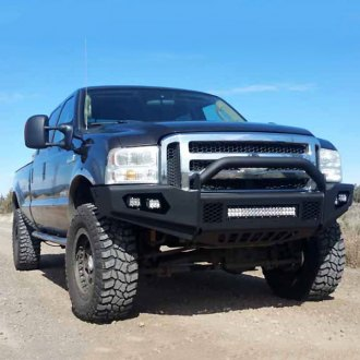 TrailReady® - Light Line Full Width Front HD Black Powder Coated Bumper with Pre-Runner Guard