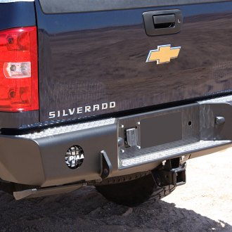 TrailReady® - Full Width Rear HD Black Powder Coated Bumper with D-Rings and Reverse Sensor Mount