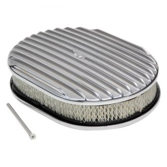 Trans-Dapt® - Full Finned Style Oval Aluminum Polished Air Cleaner Assembly