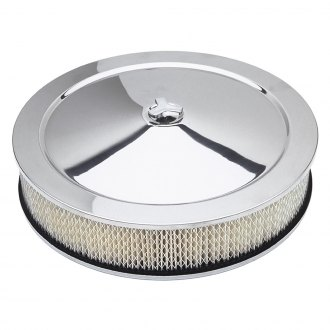"Trans-Dapt® - Round Aluminum Polished Air Cleaner Assembly with Paper Filter (14"" X 3"")"