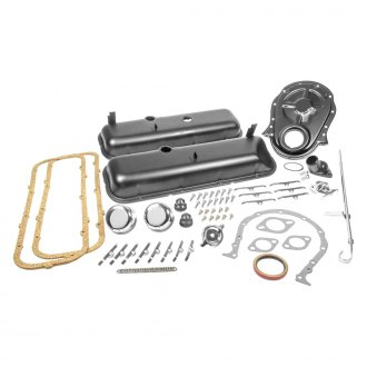 "Trans-Dapt® - 21"" Black Steel Engine Dress Up Kit without PCV"