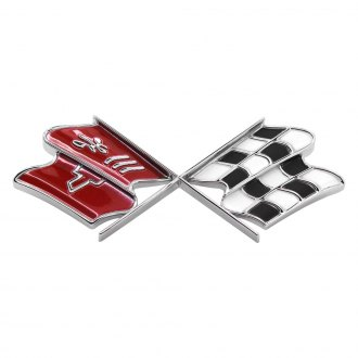 Trim Parts® - Fuel Door Emblem with X-Flag Logo